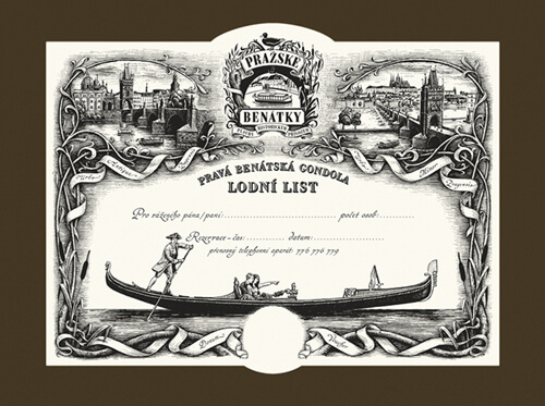 Lodní list na plavbu pravou benátskou gondolou | Gondolier