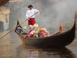 ヴルタヴァ上のヴェネツィアのカーニバル|ゴンドラの船頭