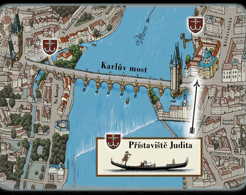 地图码头,而帆地道的威尼斯的贡多拉|船夫